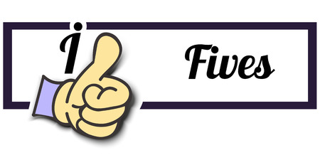 i like: Frame I Like Fives Thumb Up! Vector graphic logo eps10. Illustration