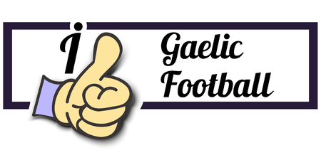 gaelic: Frame I Like Gaelic Football Thumb Up! Vector graphic logo eps10. Illustration