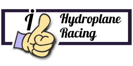 hydroplane: Frame I Like Hydroplane Racing Thumb Up! Vector graphic logo eps10. Illustration