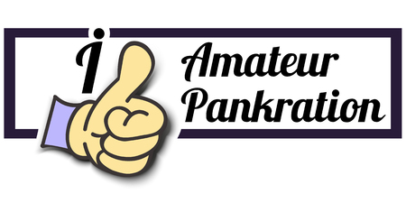 pankration: Frame I Like Amateur Pankration Thumb Up! Vector graphic logo eps10.
