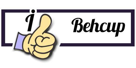 i like: Frame I Like Behcup Thumb Up! Vector graphic logo eps10.