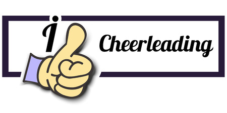 cheerleading: Frame I Like Cheerleading Thumb Up! Vector graphic logo eps10. Illustration