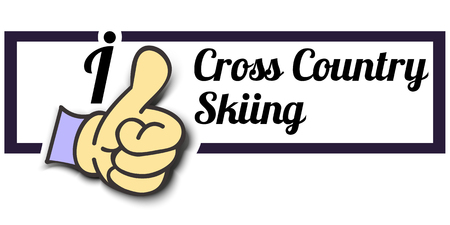 cross country: Frame I Like Cross Country Skiing Thumb Up! Vector graphic logo eps10. Illustration