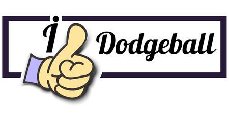i like: Frame I Like Dodgeball Thumb Up! Vector graphic logo eps10.
