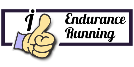 endurance: Frame I Like Endurance Running Thumb Up! Vector graphic logo eps10.