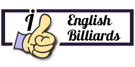 like english: Frame I Like English Billiards Thumb Up! Vector graphic logo eps10.
