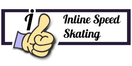 inline skating: Frame I Like Inline Speed ??Skating Thumb Up! Vector graphic logo eps10.