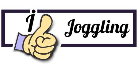 i like: Frame I Like Joggling Thumb Up! Vector graphic logo eps10.