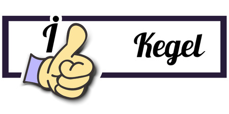 i like: Frame I Like Kegel Thumb Up! Vector graphic logo eps10.