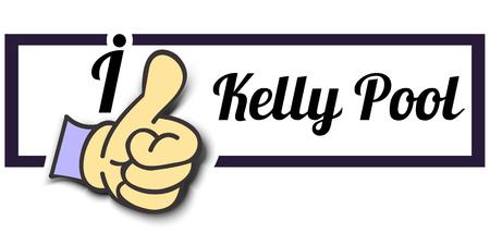 kelly: Frame I Like Kelly Pool Thumb Up! Vector graphic logo eps10.