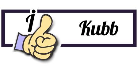i like: Frame I Like Kubb Thumb Up! Vector graphic logo eps10.