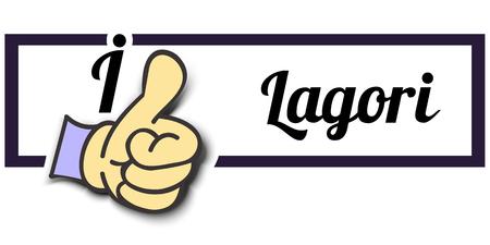 i like: Frame I Like Lagori Thumb Up! Vector graphic logo eps10.