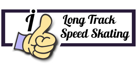 tracks live: Frame I Like Long Track Speed ??Skating Thumb Up! Vector graphic logo eps10.