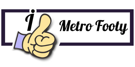footy: Frame I Like Metro Footy Thumb Up! Vector graphic logo eps10.