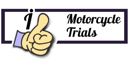 trials: Frame I Like Motorcycle Trials Thumb Up! Vector graphic logo eps10.