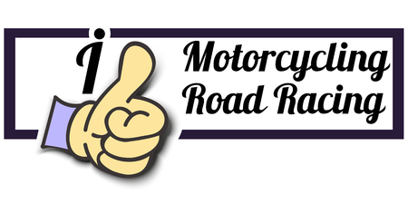 motorcycling: Frame I Like Motorcycling Road Racing Thumb Up! Vector graphic logo eps10. Illustration