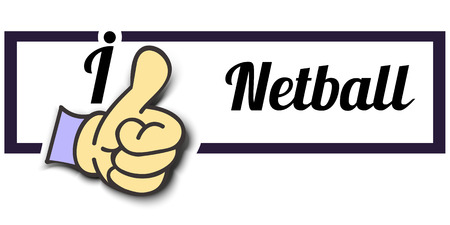 i like: Frame I Like Netball Thumb Up! Vector graphic logo eps10.