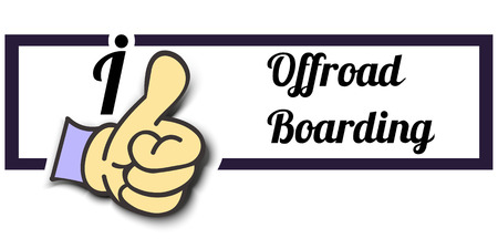 offroad: Frame I Like Offroad Boarding Thumb Up! Vector graphic logo eps10. Illustration