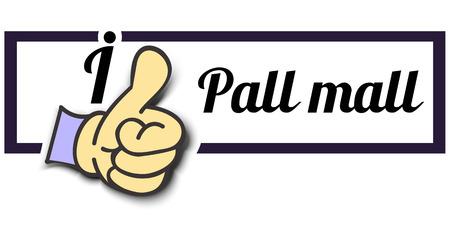 """Frame """"I Like Pall mall"""" Thumb Up! Vector graphic logo eps10. Logó"""
