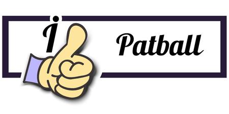 i like: Frame I Like Patball Thumb Up! Vector graphic logo eps10.