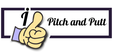 putt: Frame I Like Pitch and Putt Thumb Up! Vector graphic logo eps10.