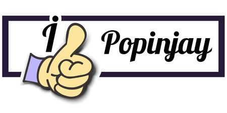 popinjay: Frame I Like Popinjay Thumb Up! Vector graphic logo eps10.