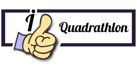 i like: Frame I Like Quadrathlon Thumb Up! Vector graphic logo eps10.