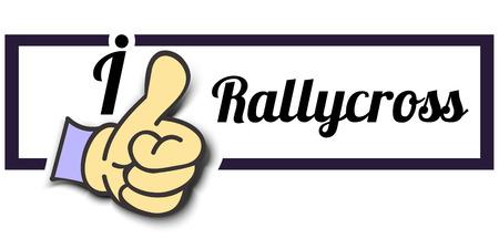 i like: Frame I Like Rallycross Thumb Up! Vector graphic logo eps10.