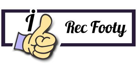 footy: Frame I Like Rec Footy Thumb Up! Vector graphic logo eps10. Illustration