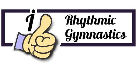 Frame I Like Rhythmic Gymnastics Thumb Up! Vector graphic logo eps10.
