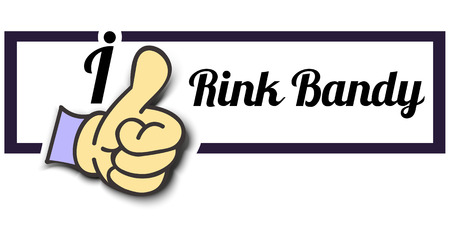 bandy: Frame I Like Rink Bandy Thumb Up! Vector graphic logo eps10.