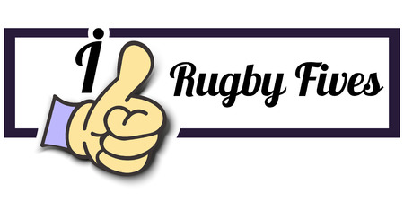 Frame I Like Rugby Fives Thumb Up! Vector graphic logo eps10. 向量圖像