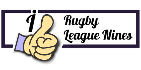 nines: Frame I Like Rugby League Nines Thumb Up! Vector graphic logo eps10.