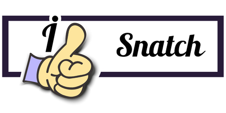 snatch: Frame I Like Snatch Thumb Up! Vector graphic logo eps10.
