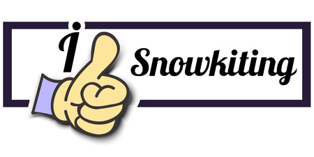 i like: Frame I Like Snowkiting Thumb Up! Vector graphic logo eps10.
