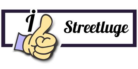 i like: Frame I Like Streetluge Thumb Up! Vector graphic logo eps10. Illustration