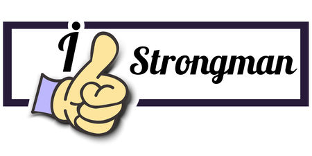 strongman: Frame I Like Strongman Thumb Up! Vector graphic logo eps10. Illustration