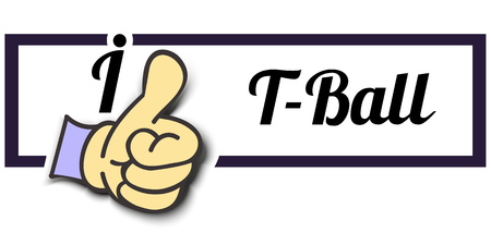 i like: Frame I Like T-Ball Thumb Up! Vector graphic logo eps10.