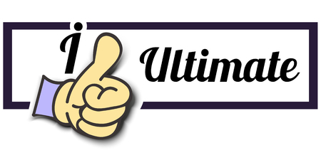 ultimate: Frame I Like Ultimate Thumb Up! Vector graphic logo eps10.
