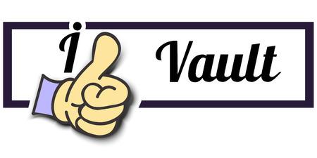 i like: Frame I Like Vault Thumb Up! Vector graphic logo eps10. Illustration