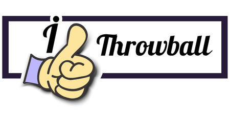 i like: Frame I Like Throwball Thumb Up! Vector graphic logo eps10.