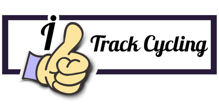 tracks live: Frame I Like Track Cycling Thumb Up! Vector graphic logo eps10.
