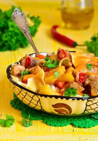 uzbek: Lagman - traditional dish of uzbek cuisine.