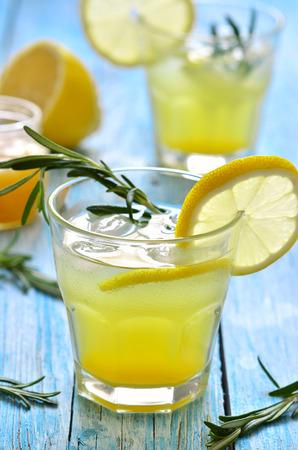 fizz: Lemon fizz in a glass.