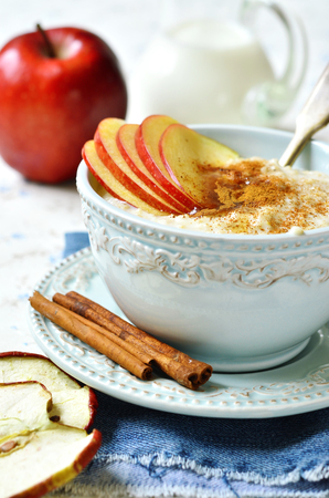 baby rice: Oat porridge with apple,honey and cinnamon for a breakfast.