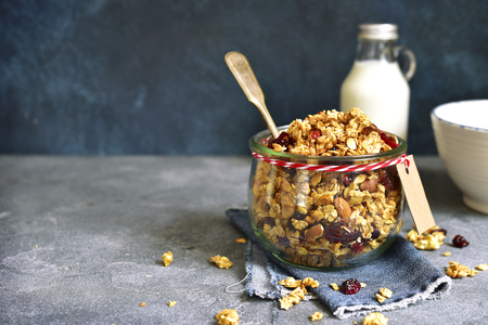 Homemade granola from mix of cereals barley oat rye bran homemade granola from mix of cereals barley oat rye bran with ccuart Gallery