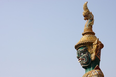 Giant demon head with sky, Thailand photo
