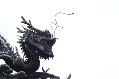 The Sculpture metal of dragon photo