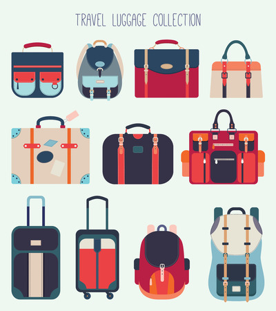 Travel luggage collection (vector design)