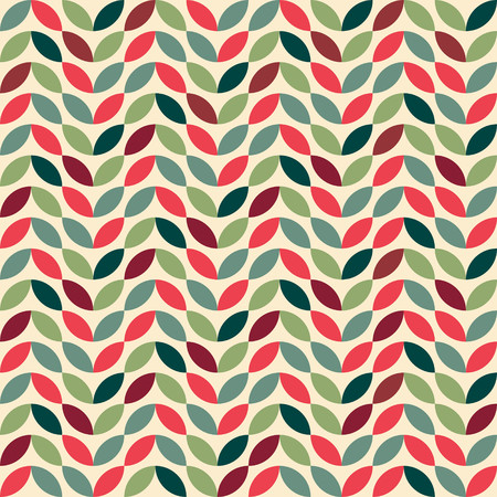 Retro seamless pattern with geometric motifs Çizim